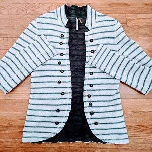 Free People Striped wool Sweater jacket.